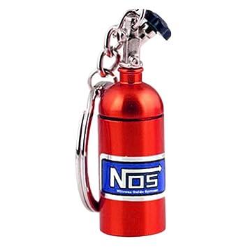 Turbo Llavero óxido nitroso y # xFF0 C; Botella metal llavero llavero Coche llavero, rosso: Amazon.es: Coche y moto