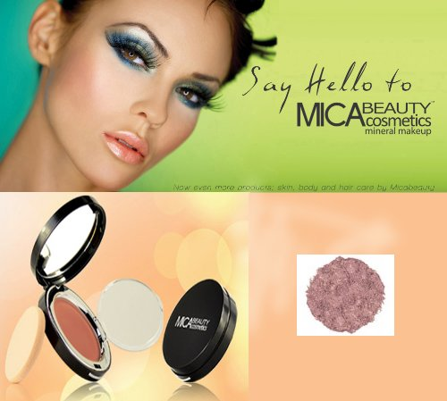 """MicaBeauty Mineral Pressed Bronzer FB5 """"Glimmer"""" + Aviva Eco Nail File"""