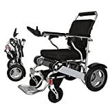 Bangeran Electric Wheelchair Folding Lightweight 50 lbs with Batteries Heavy Duty Supports 360 lbs Aircraft Grade Aluminum Alloy Frame More Strength,12