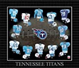 NFL Tennessee Titans Evolution of The Team Uniform Framed Photograph