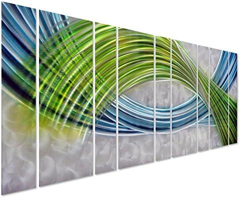 Pure Art Abstract Color Warp Metal Wall Art