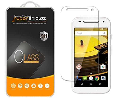 [2-Pack] Supershieldz for Motorola Moto E (2nd Gen / Generation) Tempered Glass Screen Protector, Anti-Scratch, Anti-Fingerprint, Bubble Free, Lifetime Replacement Warranty (Generation 2nd Screen)