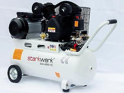 starkwerk druckluft kompressor sw 455 10 10 bar 50 liter kessel top preis leistung. Black Bedroom Furniture Sets. Home Design Ideas