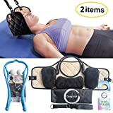 Portable Head Hammock with Manual Pressure Point Massager Bundle - Cervical Traction & Relaxation Sling   Shiatsu Self Massager   Office Workers, Drivers, and anyone with Shoulder Pain