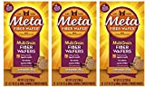 Meta Multi-grain Fiber Wafers by Meta, Cinnamon Spice 24 Count (Pack of 3)