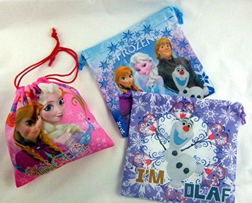 Frozen congelado Soy Olaf púrpura del bolso de lazo Tamaño: 21cm x 21cm (1 piezas)