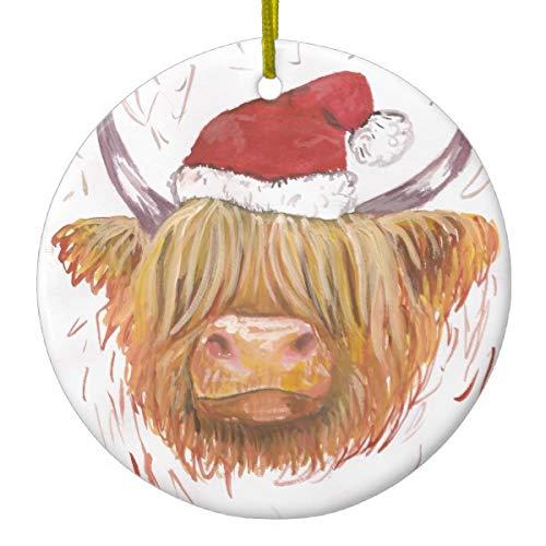 Cow Christmas Ornaments - Christmas Coo Highland Cow with Christmas
