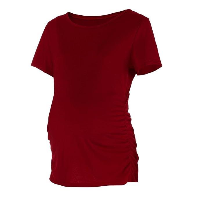 Logobeing Embarazadas Camisetas de Manga Corta Bebé Para La Camiseta de Maternidad Mujeres Ropa Premamá Tops