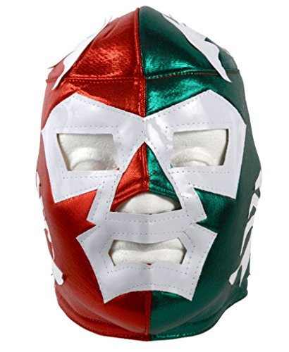 Del Mex Lycra Lucha Libre Adult Luchador Mexican Wrestling Mask Costume (Dr Wagner)]()