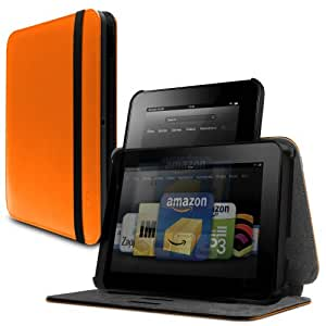 """Marware Revolve Portrait and Landscape Standing Case for Kindle Fire HD 8.9"""", Orange (will not fit HDX models)"""