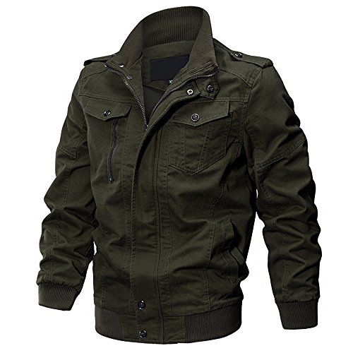 - WEEN CHARM Men's Military Casual Jacket Cotton Windbreaker