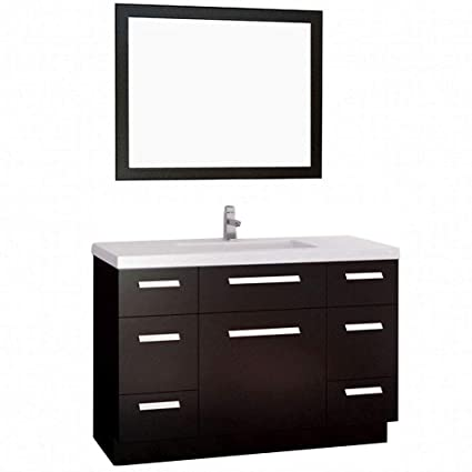 Design Element Moscony Single Sink Vanity Set With Espresso Finish