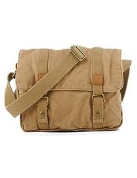 SAIERLONG Men's And Women's Messenger Bags Shoulder Handbags Apricot Canvas