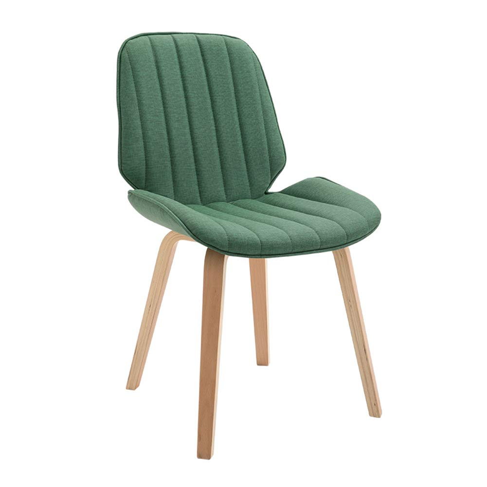 Cloth leather deep green Upholstered Dining Chairs,Modern Backrest Leisure Chair with Solid Beech Wood Legs, Ergonomic Design,for Dining Room Living Room Kitchen Cafe Office