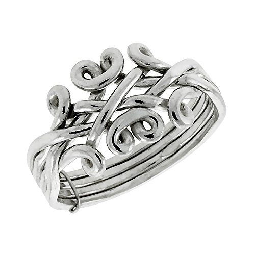 Sterling Silver 4 Piece Design Wrapped
