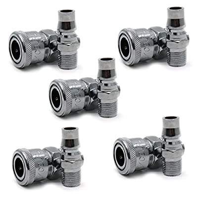 """Yootop 5Sets 1/2"""" Male Thread Quick Coupler Plug Set NPT Fittings Industrial Type Air Flow Compressor Accessories Set"""