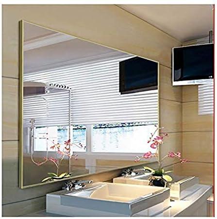 GYJ ハンギングミラーアルミフレームバスルームミラー壁掛けバニティミラーバスルームの鏡バスルームの鏡 ファッション (Color : Bronze, Size : 45cmX60cm)