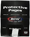 BCW Supplies 1-PROPHOTO-100 Pro 8 X 10 Photo Page (100 Count Box)