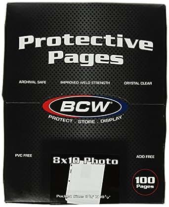 BCW Supplies 1-PROPHOTO-100 Pro 8 X10 Photo Page (100 Count Box)