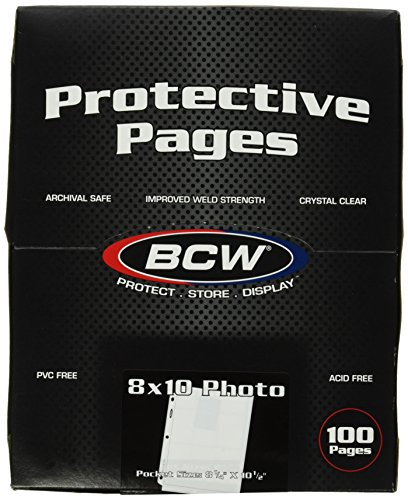 BCW Supplies Pro 8 X10 Photo Page (100 Count Box)