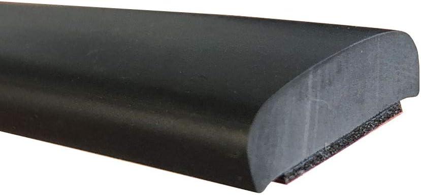 tira 5m auto-adhesiva PVC protecci/ón paragolpes y decorativa. Moldura universal NEGRA