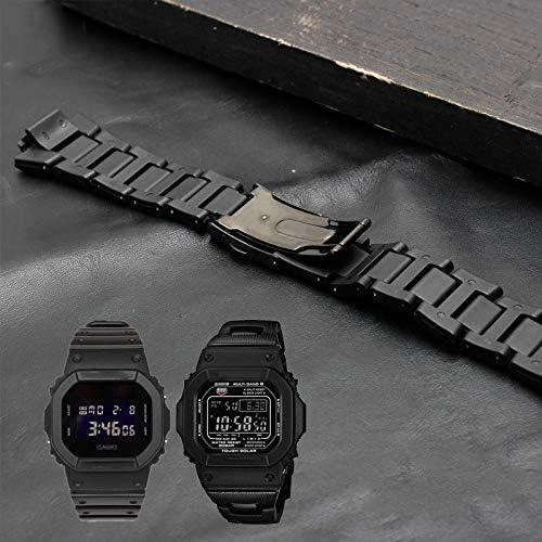RTYW アクセサリーバンパー超薄型ストラップ 男性/女性は、適切なプラスチック時計バンドステンレススチールケース (Band Color : Watchband, Band Width : 26 16mm)
