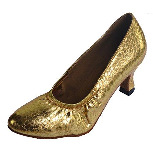 Jig Foo Damen Pumps Dance Schuhe gold