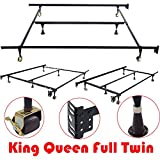 Heavy Duty Metal Bed Frame Adjustable King Queen Full Twin Size W/Center Support