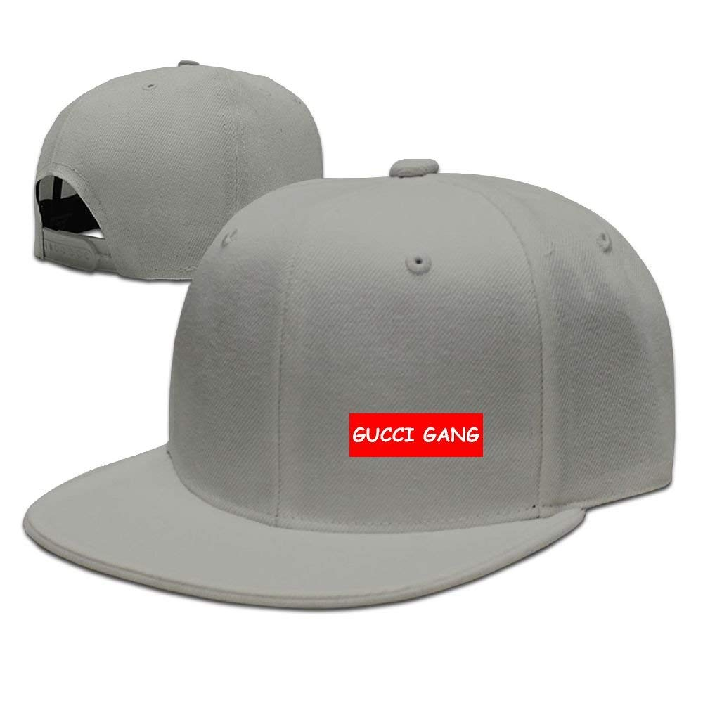 Lil Pump GUCC Gang Logo Unisex Flat Brim Baseball Hats 100% Cotton ...