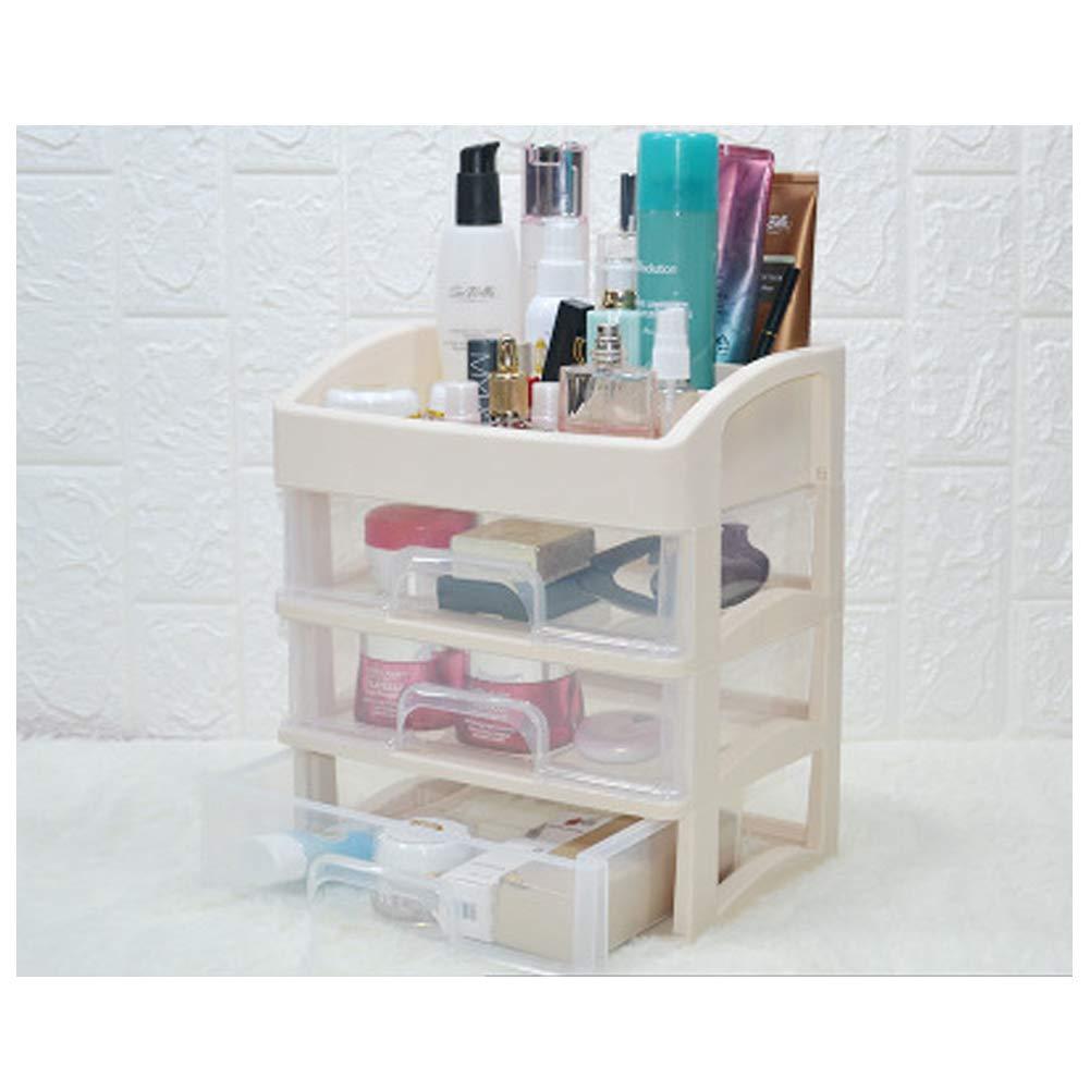 LJQHS Cosmetic Storage Box, Drawer Type Large Storage Box, Transparent Desktop Skin Care Product Storage Box, dustproof Desktop Cosmetic case, Beauty Box Storage, Beauty Storage Box,-Yellow-M