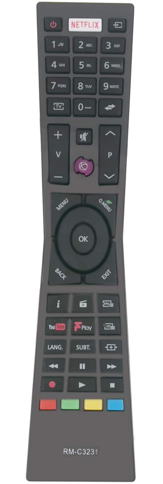 ALLIMITY RM-C3231 sub RM-C3232 Remote Control Replacement for JVC SMART 4K LED TV RMC3231 LT-32C670 LT-32C661 LT-24C660 LT-24C661 LT-32C660 LT-49C770 LT-55C860 LT-43C860 LT-40C860 LT-32C671 LT-43C862