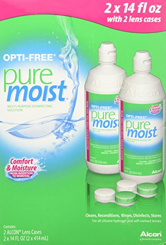 Price comparison product image Opti-free Pure Moist Disinfecting Contact Lens Cleaning Solution, 2x14 Oz