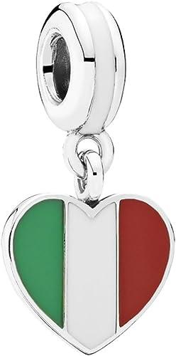 Amazon.com: Pandora 791547ENMX Italy Heart Flag Charm: Jewelry