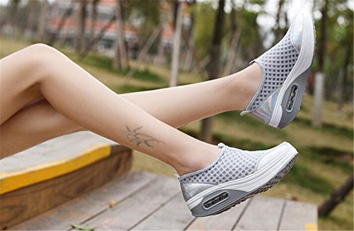 2018 MIKA Grey Platform Sports Bottom Winter Hiking Sneakers Fashion Running Thick Women HOM Shoes 5rqwOrB