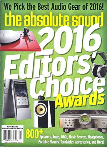 The Absolute Sound (March 2016 - 2016 Editors' Choice Awards)