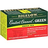 Bigelow Constant Comment Green Tea Bags, 20 Count Box (Pack of 6) Caffeinated Green Tea, 120 Tea Bags Total