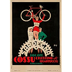 Sardegna - Cossu Vintage Poster Italy c. 1930 (24x36 Collectible Giclee Gallery Print, Wall Decor Travel Poster)