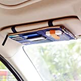 car visor organizer blue - KINGLAKE New Multi-purpose Auto Car Sun Visor Organizer Pouch Bag Card Storage Holder Dark Blue