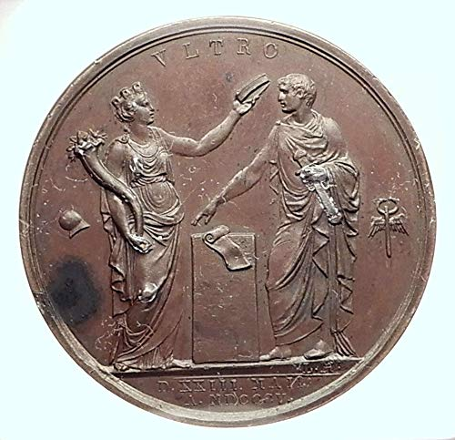 - 1805 unknown 1805 FRANCE Napoleon Bonaparte as ITALY KING at M coin Good NGC