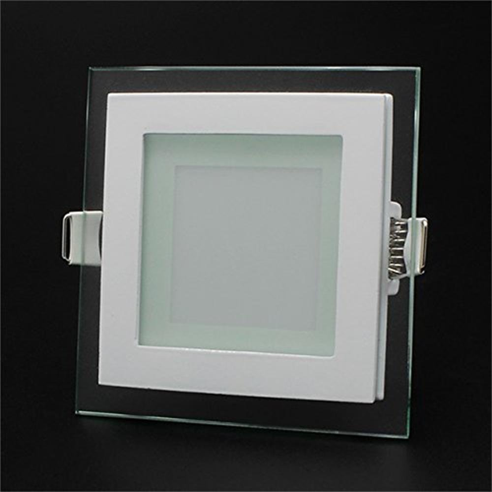6/12/18W LED Panel Leuchte Glas Dimmbar Quadrat Deckenlampe ...