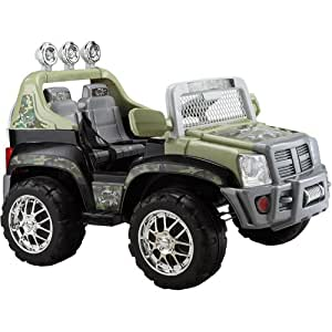 Monster Trax SUV 12-Volt Battery-Powered Ride-On, Tan Camo
