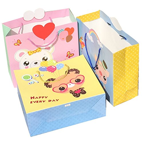 FTSUCQ Kids Cartoon Large Cartoon Cute Outdoors Paper Party Gift Bag, 8 - Bag Sale Versace Uk