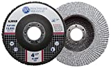 Benchmark Abrasives 4.5'' x 7/8'' Type 27 Stearate Coated Flap Disc for Aluminum (60 Grit)