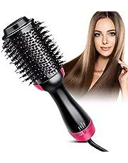 Hair Dryer Brush, Lisa Pro Hot Air Brush One Step Hair Dryer & Volumizer 3 in 1 Hair Dryer Brush Styler for Rotating Straightening, Curling, Salon Negative Ion Ceramic Blow Dryer Brush
