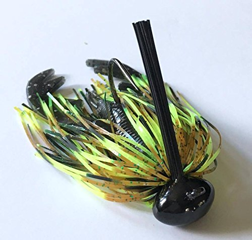 Screwy Lewy Lures Football Bass Jigs with Craw Trailer (Missouri Craw, 1/2 oz) (Ball Lure)
