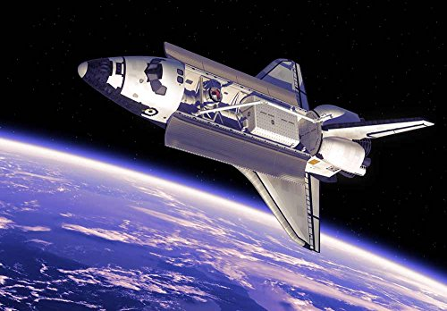 Space Shuttle Floating in Space Above Planet Earth Wall Mural
