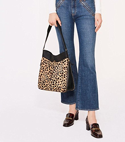 Leopard Ivy Black Bag Hobo Burch Tory Iznwq5Hxw