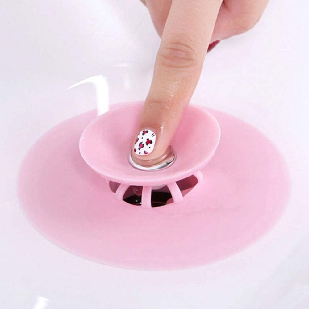 Wasserstopfen Stopper Filter Stopper Bodenablauf Haare K/üche Waschbecken Stopper rose Sisn Abflusssieb aus Gummi