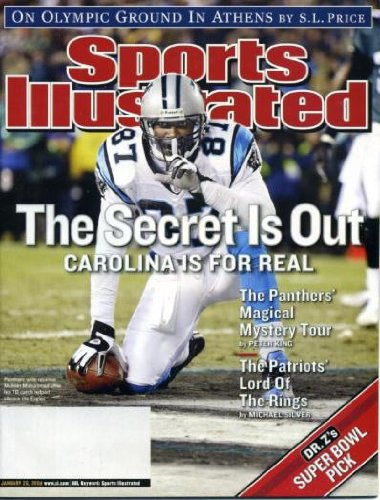 (Sports Illustrated January 26, 2004 Muhsin Mahammad/Carolina Panthers, Athens Olympics, New England Patriots Pound Indianapolis Colts, Stanford Basketball)