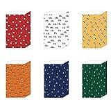 NUOBESTY 6 piezas bolsa de dulces de navidad bolsa de regalo de papel bolsas de regalo de vacaciones para suministros de fiesta de navidad